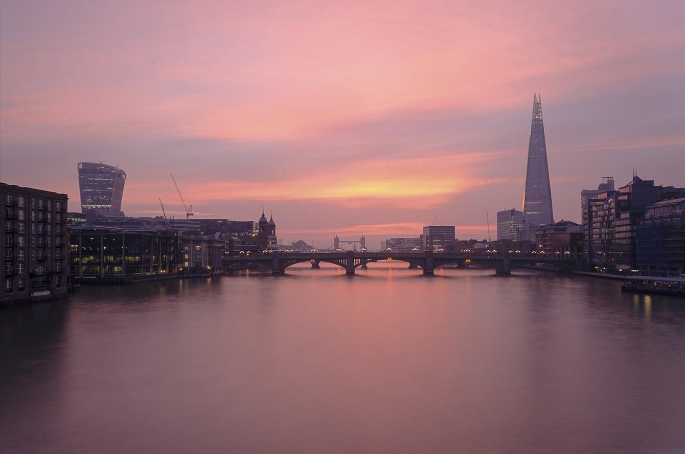 Sunrise from Millennium Bridge