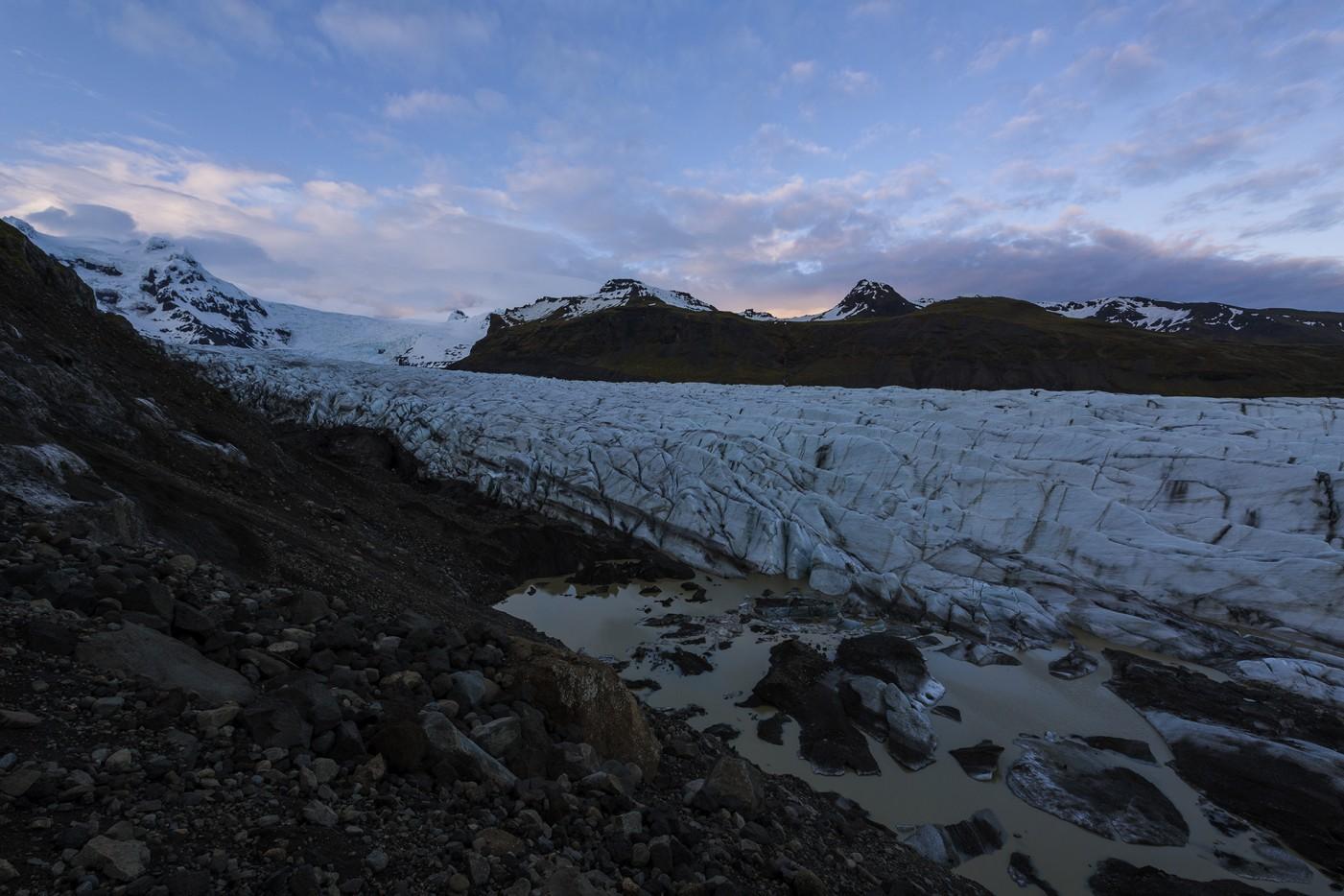 Night at Svinafellsjokull Glacier
