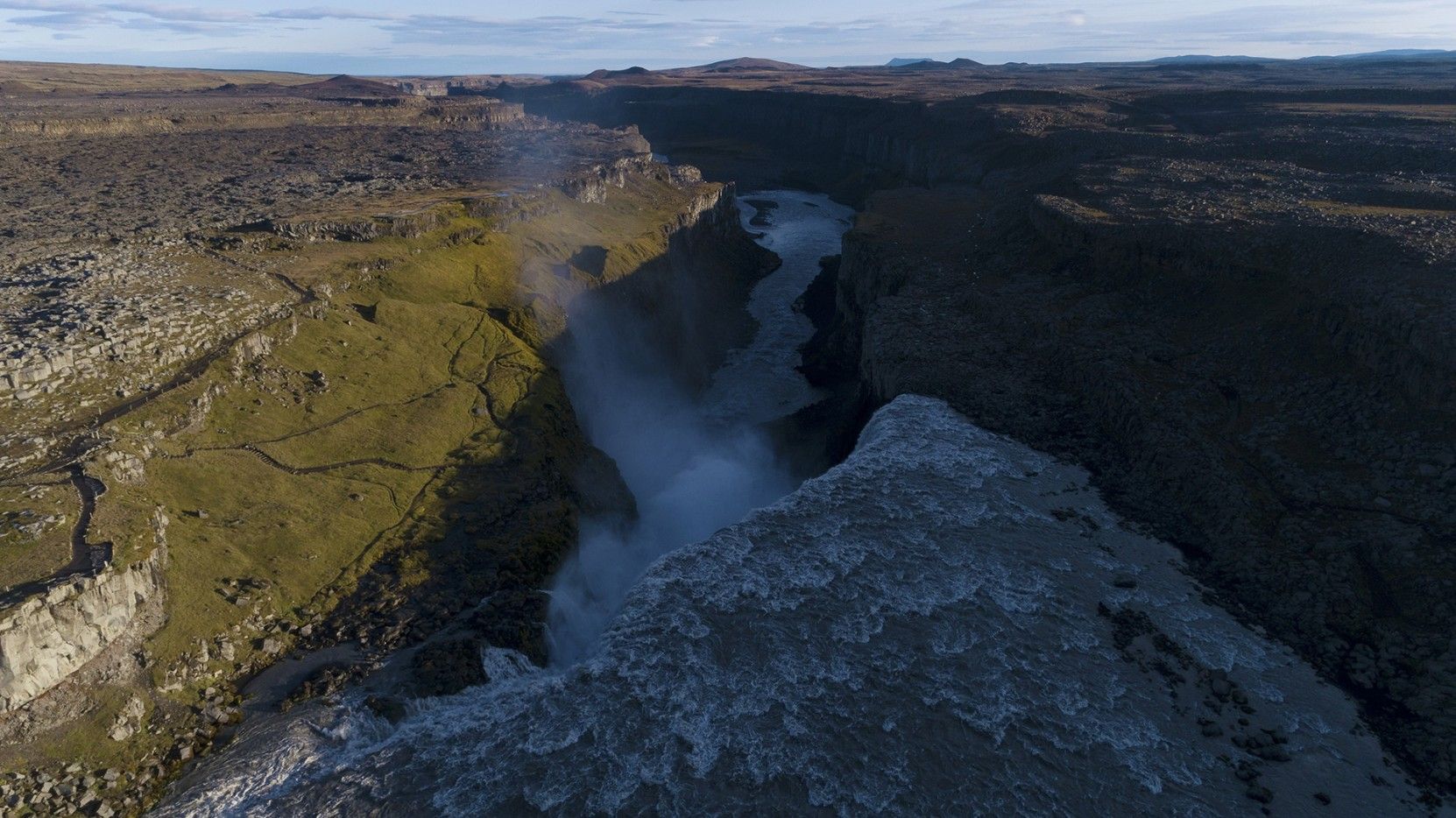 On the edge of Dettifoss